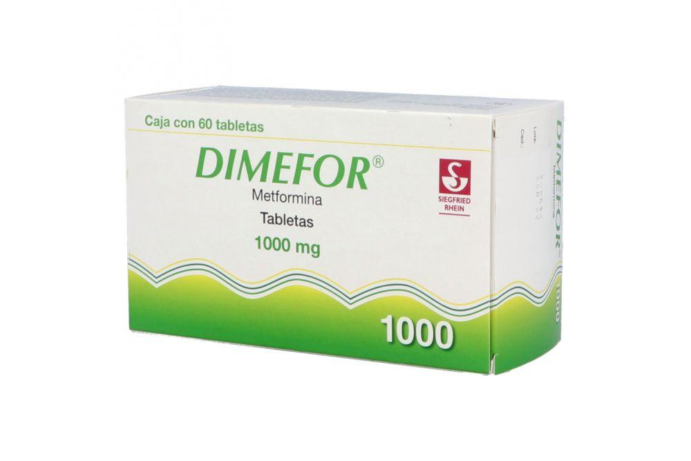 Dimefor 1000 mg Con 60 Tabletas