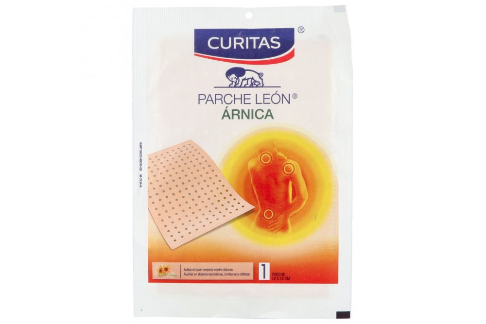 Curitas Parche León Poroso 12 cm X 18cm Caja Con 1 Parche