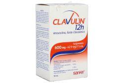 Clavulin 12 H 600 mg Suspensión Caja Con Frasco Con Polvo Para 50 mL -RX2