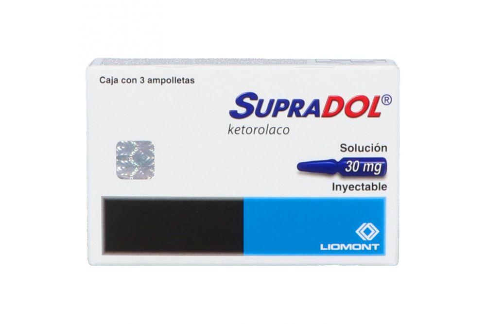Supradol 30 mg Caja Con 3 Ampolletas