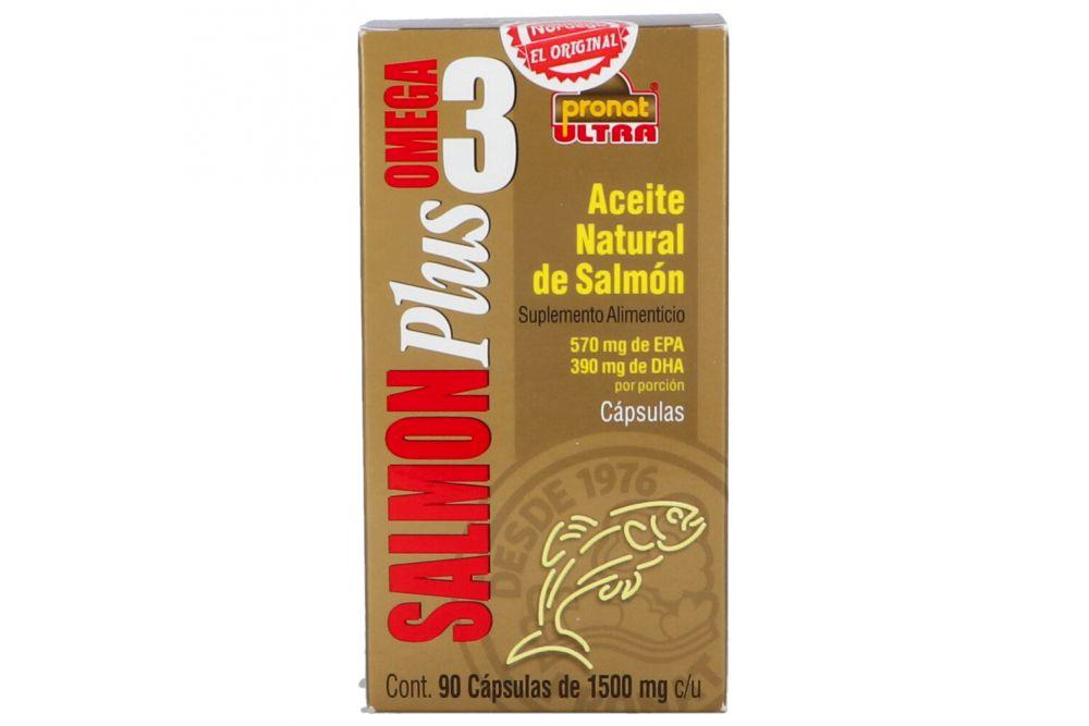 Salmón Plus Omega 3 1500mg Caja Con Frasco Con 90 Cápsulas