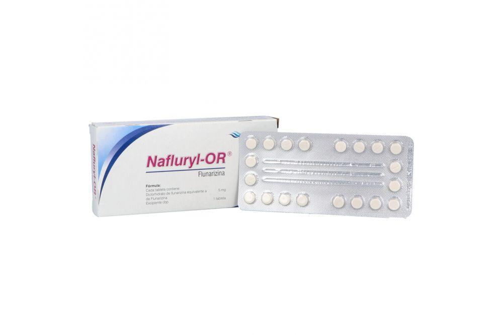 Nafluryl Or  5 mg Caja Con 40 Tabletas