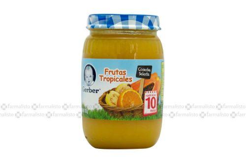Gerber Papilla Frutas Tropicales 3Era Etapa Frasco Con 170 g - Alimentación bebé