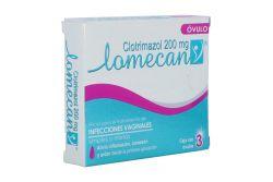 Lomecan 200 mg Caja Con 3 Óvulos Vaginales