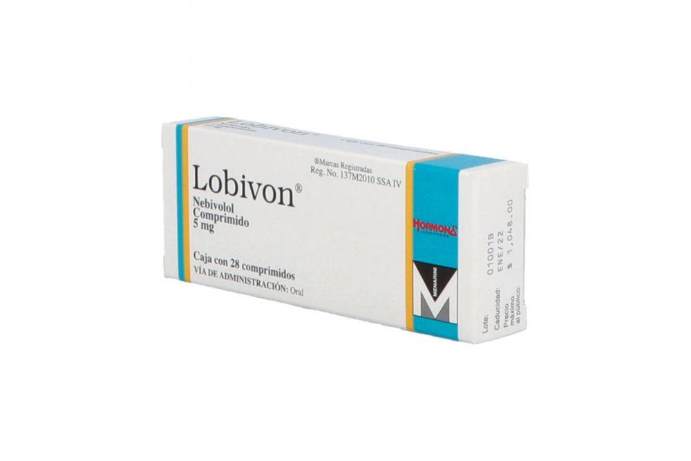 Lobivon 5 mg Caja Con 28 Comprimidos