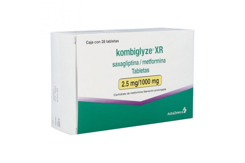 Kombiglyze Xr 2.5 mg/1000 mg Caja Con 28 Tabletas