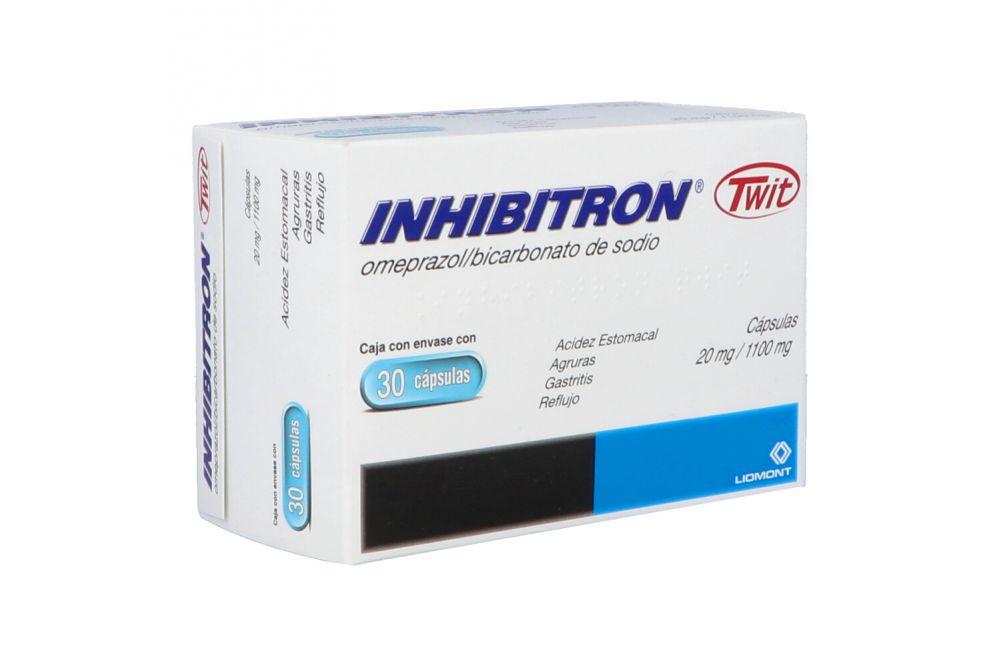 Inhibitron Twit 20mg / 1100 mg Caja Con Envase 30 Cápsulas