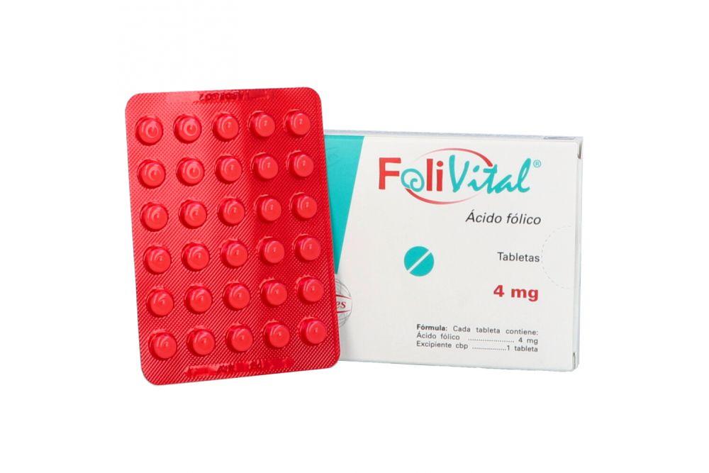 Folivital 4 mg Caja Con 90 Tabletas
