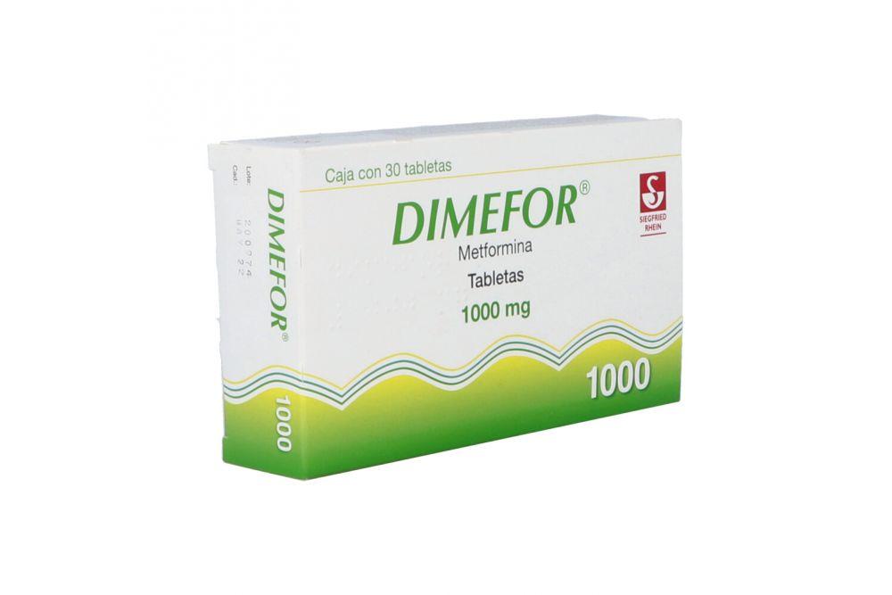 Dimefor 1000 mg Con 30 Tabletas