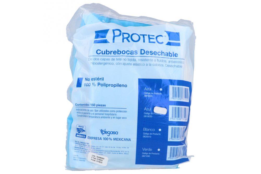 Cubrebocas Desechable Azul Bolsa Con 150 Unidades