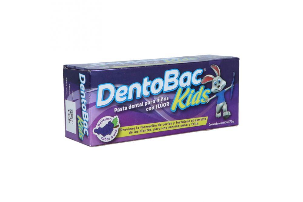 Crema Dental Dentobac Kids Tubo Con 60 mL