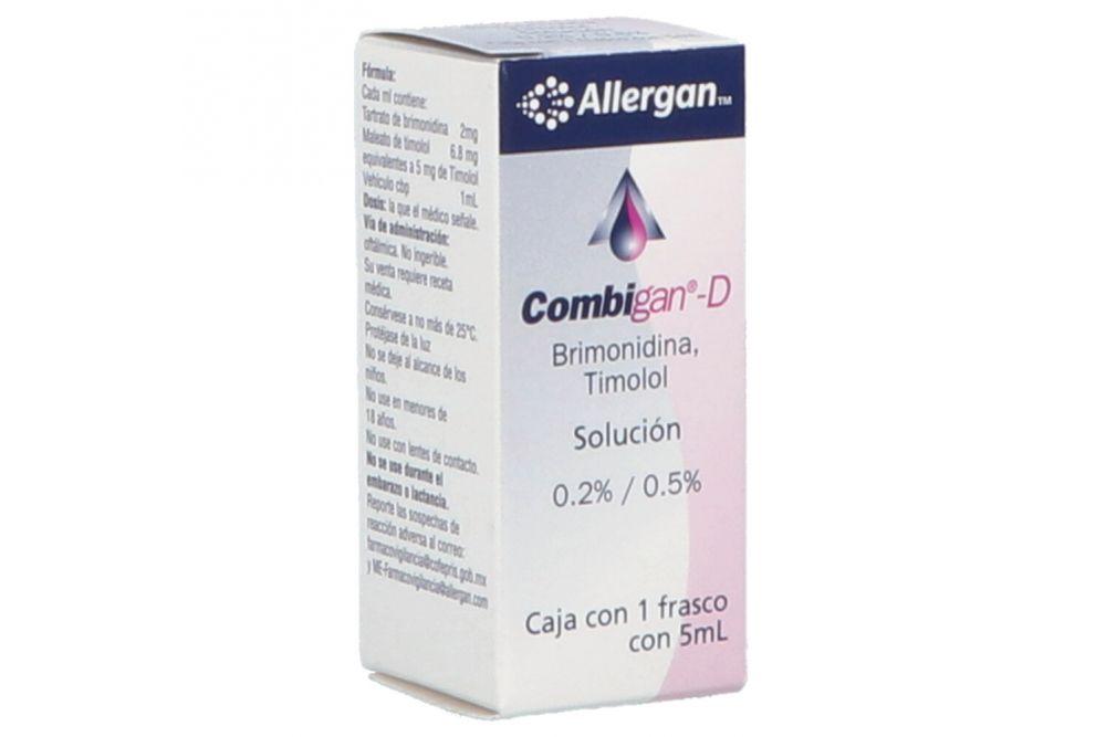 Combigan D Solución 0.2%/0.5% Caja Con Frasco Gotero Con 5 mL