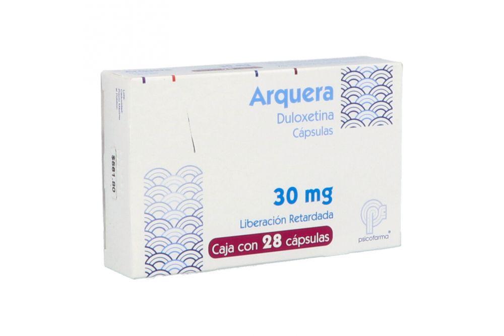 Arquera Lr 30 mg Caja Con 28 Cápsulas