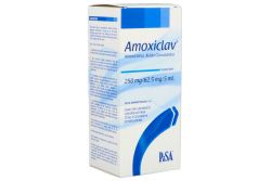Amoxiclav Suspensión 250 mg / 62.5 mg / 5 mL Caja Con Frasco Con Polvo Para 75 mL - RX2