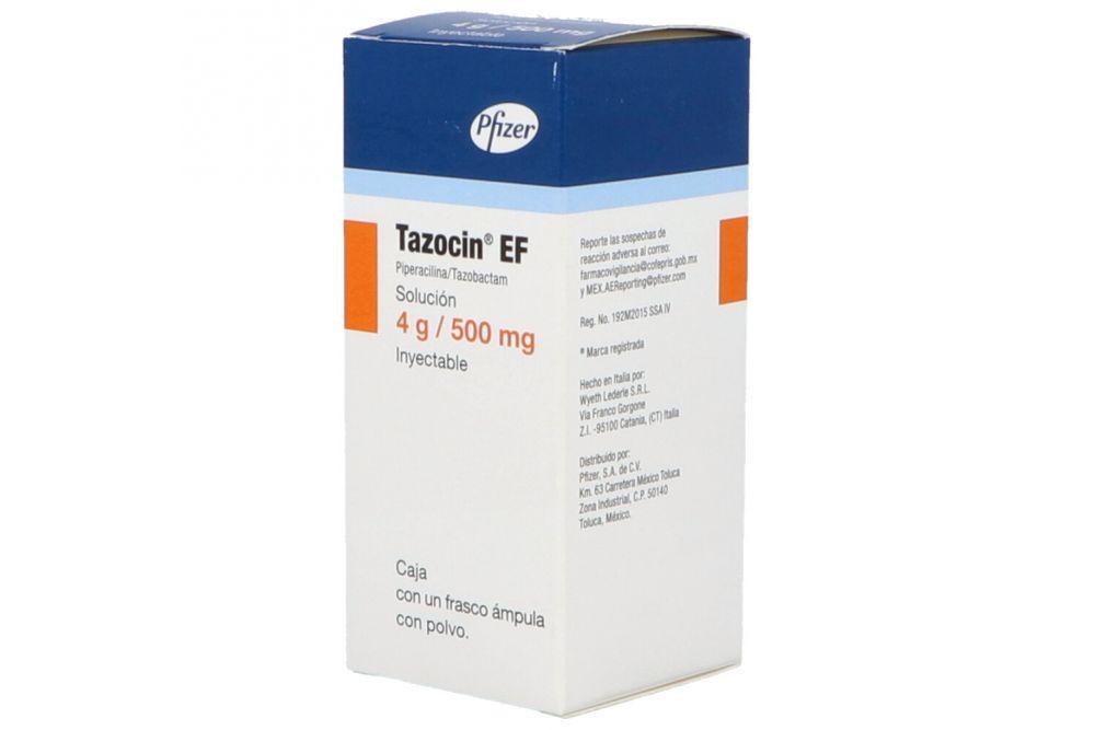 Tazocin-Ef 4 0.500g Solución Inyectable Frasco Ámpula -RX2