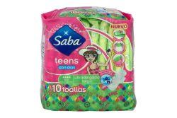 Saba Teens Con Alas Ultradelgada Bolsa Con 10 Toallas