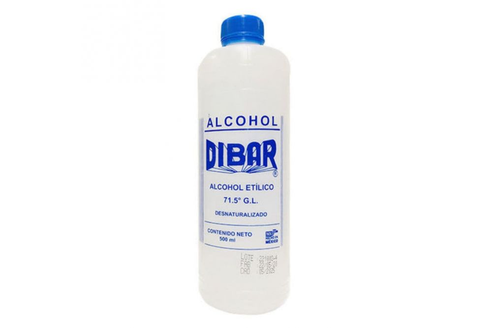 Alcohol etílico DIBAR Botella Con 500 mL