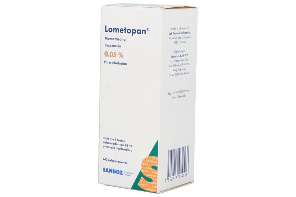 Lometopan 0.05% con 1 Frasco De 18 mL Con 140 Nebulizaciones
