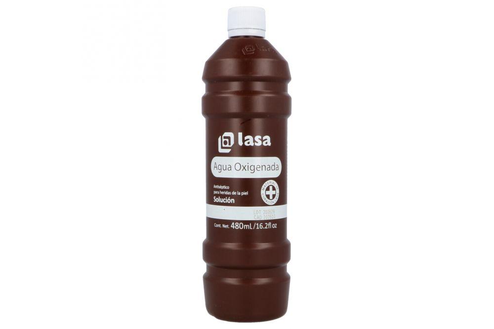 Lasa Agua Oxigenada Solución 10.5 Volumenes Botella Con 480 mL