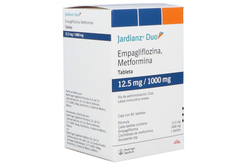 Jardianz Duo 12.5/1000 mg Con 60 Tabletas
