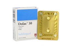 Dolac  30 Mg Caja X 2 Tabletas Sublinguales
