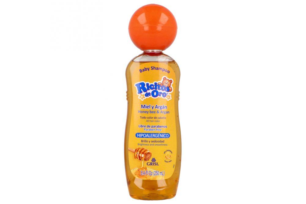 Baby Shampoo Ricitos De Oro Miel Botella Con 250mL