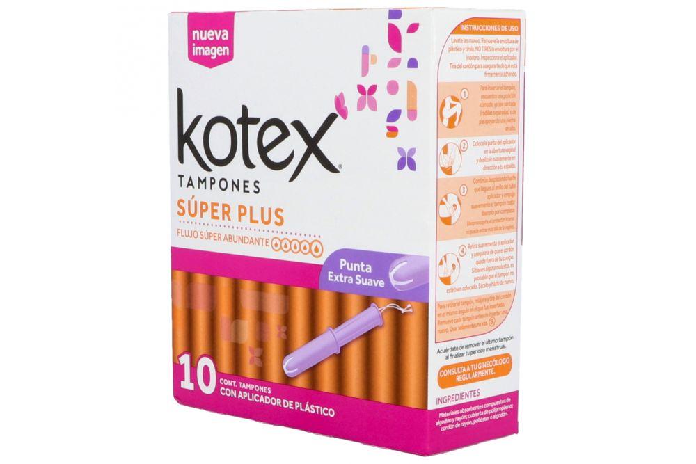 Tampones Kotex Super Plus C 10 piezas