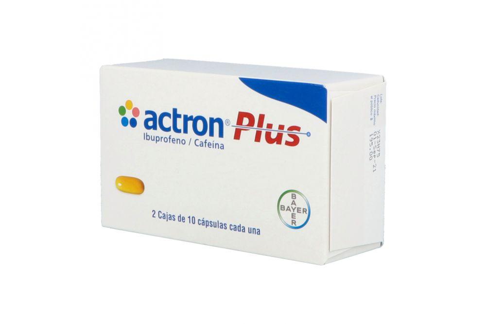 Actron Plus 400 mg 2 Cajas Con 10 Cápsulas Cada Una