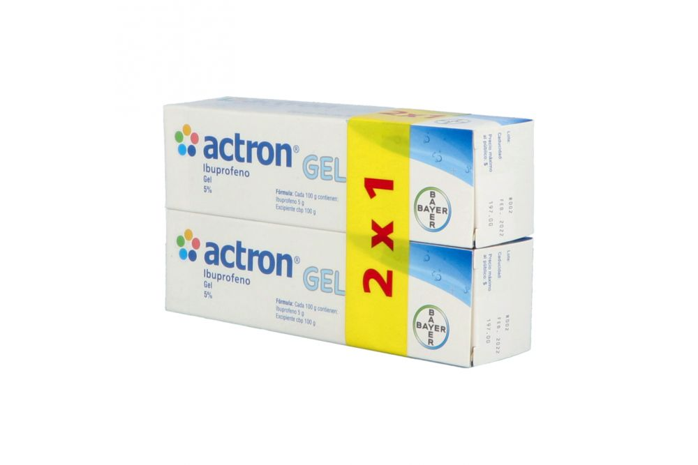 Actron Gel Empaque Con 2 Cajas Con 50 g C/U