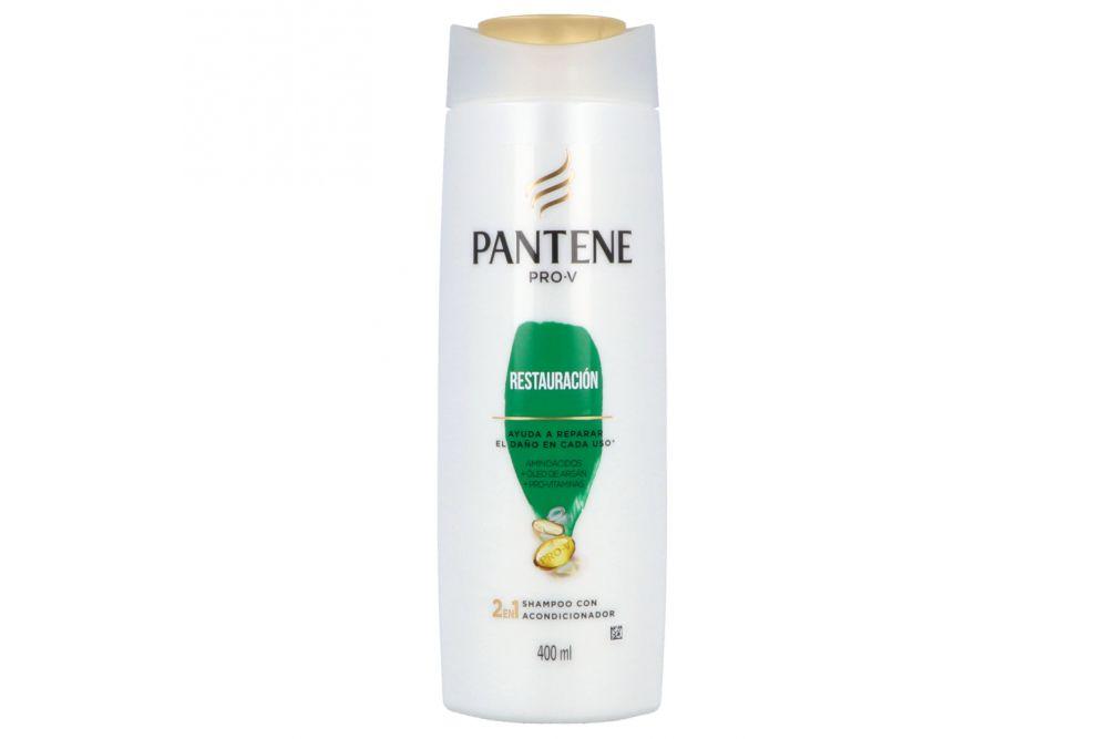 Pantene Pro-V Shampoo Restauración 2 En 1 Botella Con 400mL