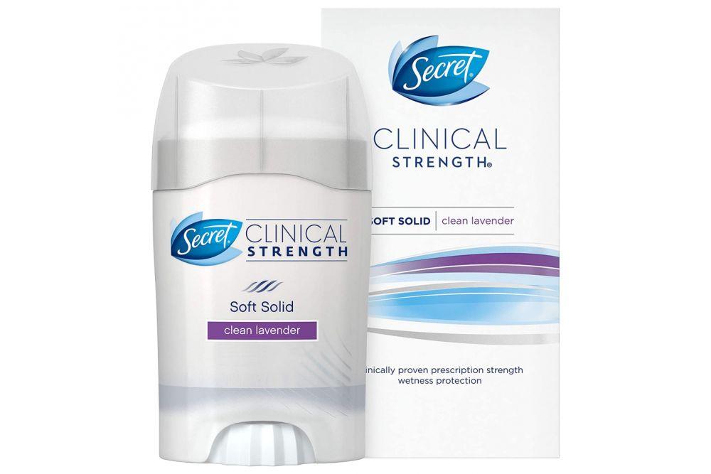 Antitranspirante Secret Clinical Strength Smooth Solid Stick Caja Con Barra Con 45 g