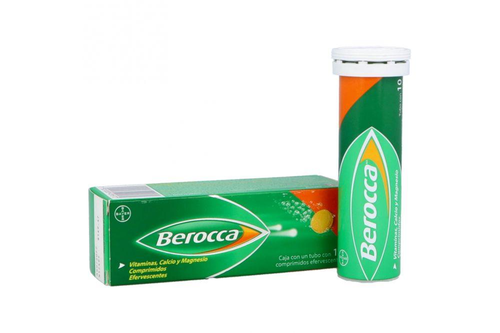 Berocca Caja Con Tubo Con 10 Comprimidos Efervescentes