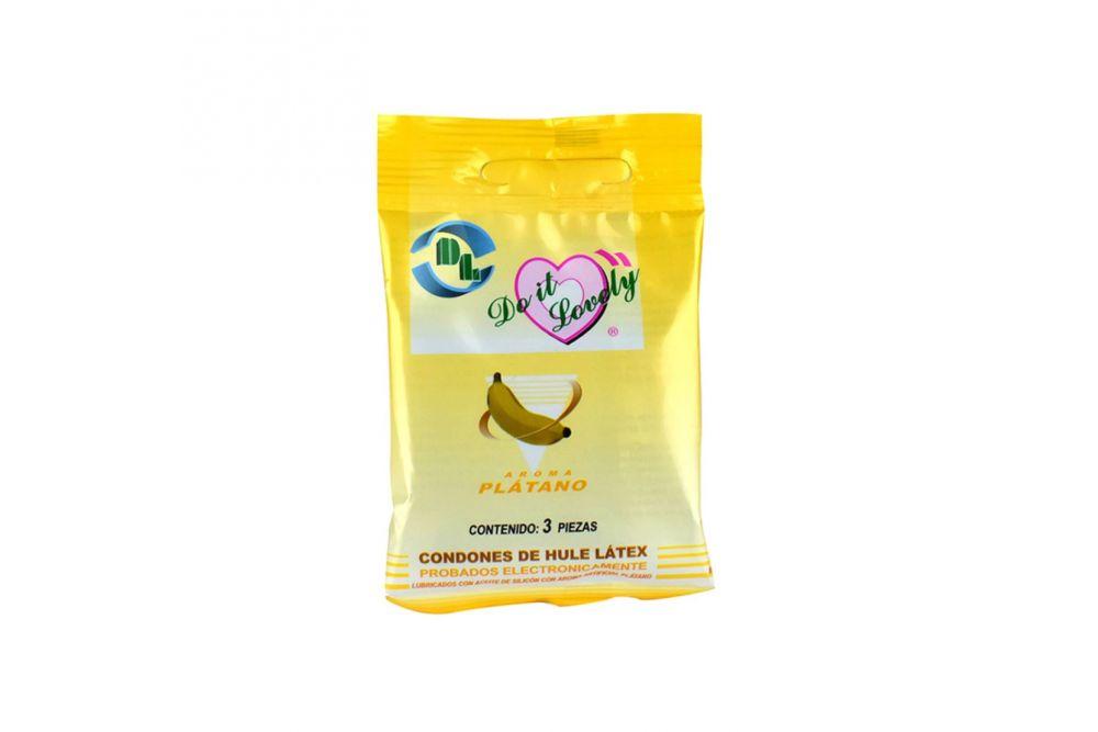 Preservativo DL Empaque Con 3 Unidades Sabor Platano