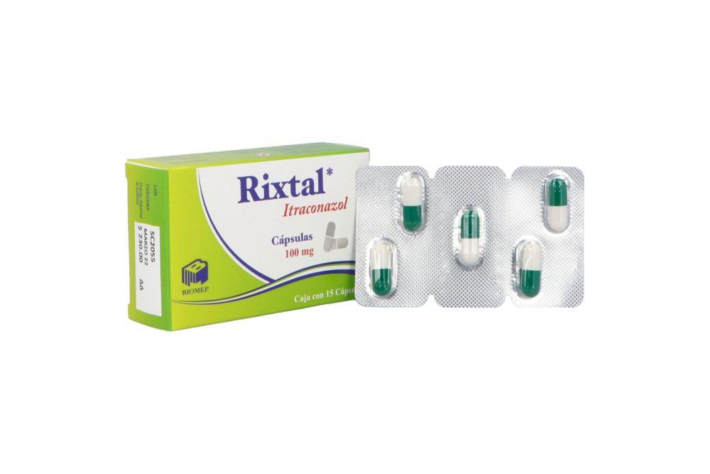 Rixtal 100 mg Caja Con 15 Cápsulas