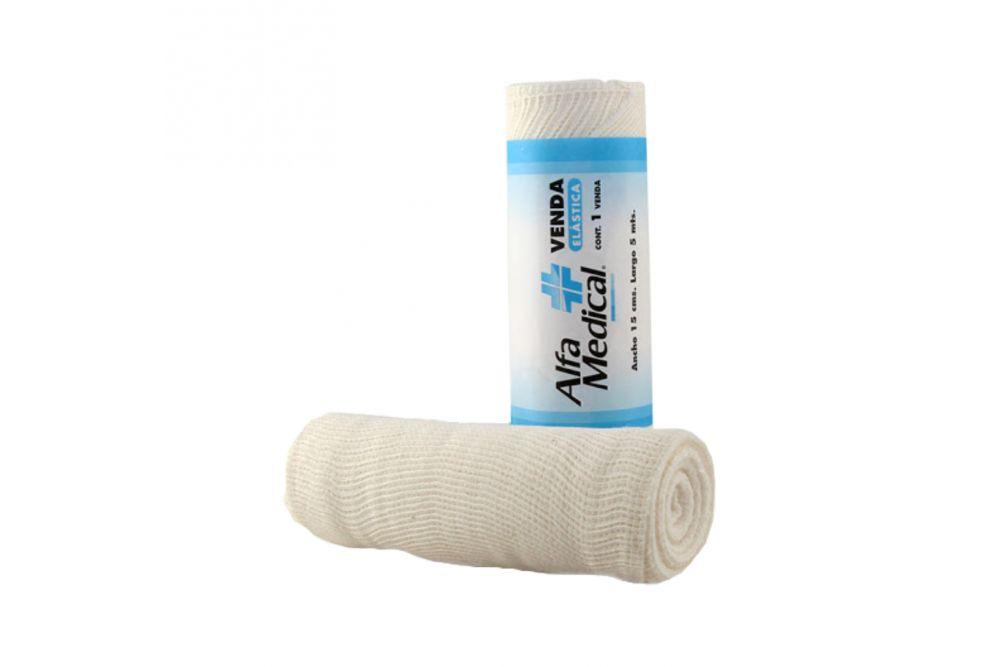 Venda Elástica Alfa Medical Paquete Con 1 Pieza 15cmx5m
