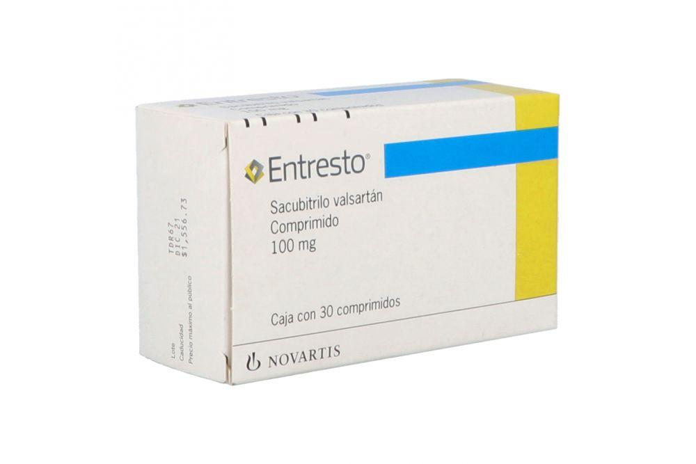 Entresto 100 mg Caja Con 30 Comprimidos