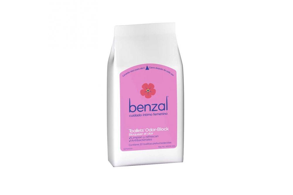 Benzal Toallets Odor-Block Con 20 Toallitas Humedas
