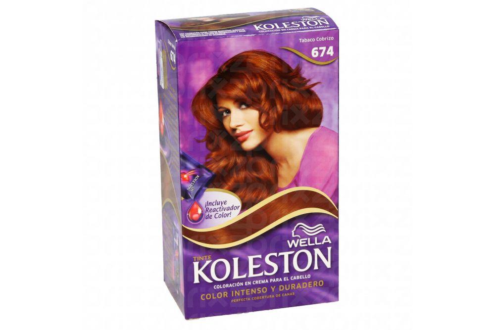 Tinte Koleston Color Tabaco Cobrizo 674