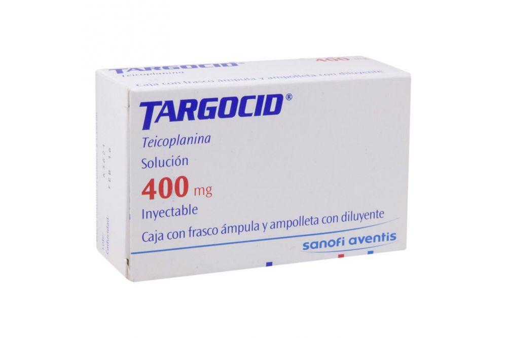 Targocid 400 mg Caja Con Frasco Ámpula 3 mL -RX2