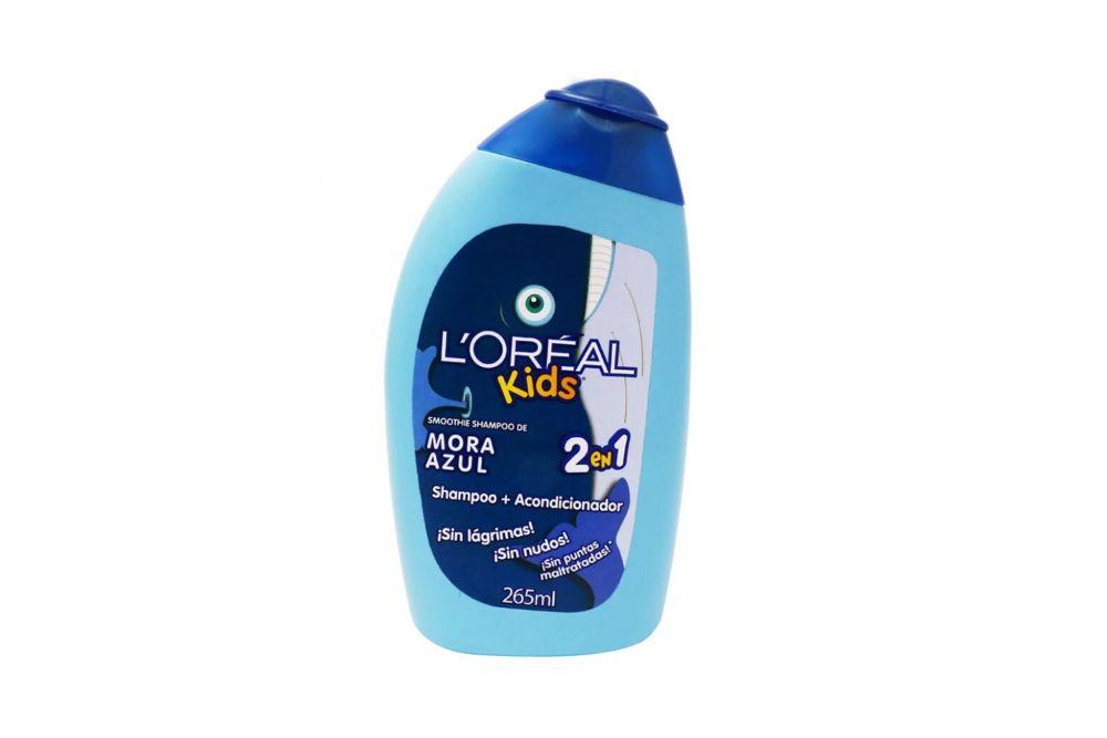 Shampoo Lóreal Kids Mora Azul 2 En 1 Botella Con 256 mL
