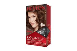 Revlon Colorsilk Tinte Permanente 46 Castaño Cobrizo Dorado Caja Con 1 Aplicación