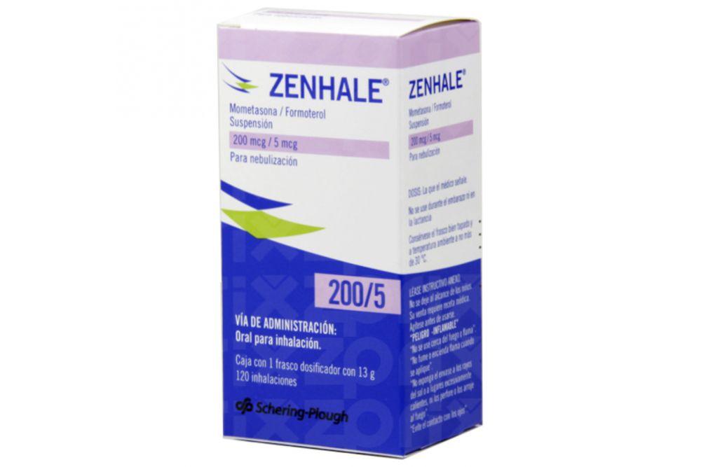 Zenhale Suspensión 200 Mcg/ 5 Mcg Caja con Frasco Dosificador Con 120 inhalaciones
