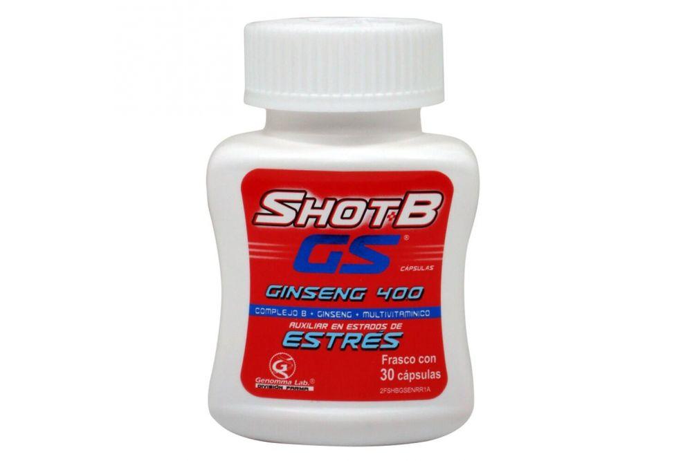 Shot B GS Estres Caja Con Frasco Con 30 Cápsulas