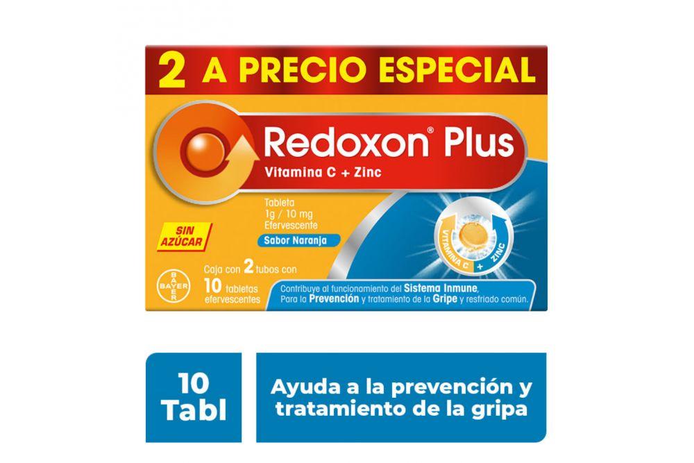 Redoxon Plus Efervescente Caja Con 2 Tubos Con 10 Tabletas Cada Uno