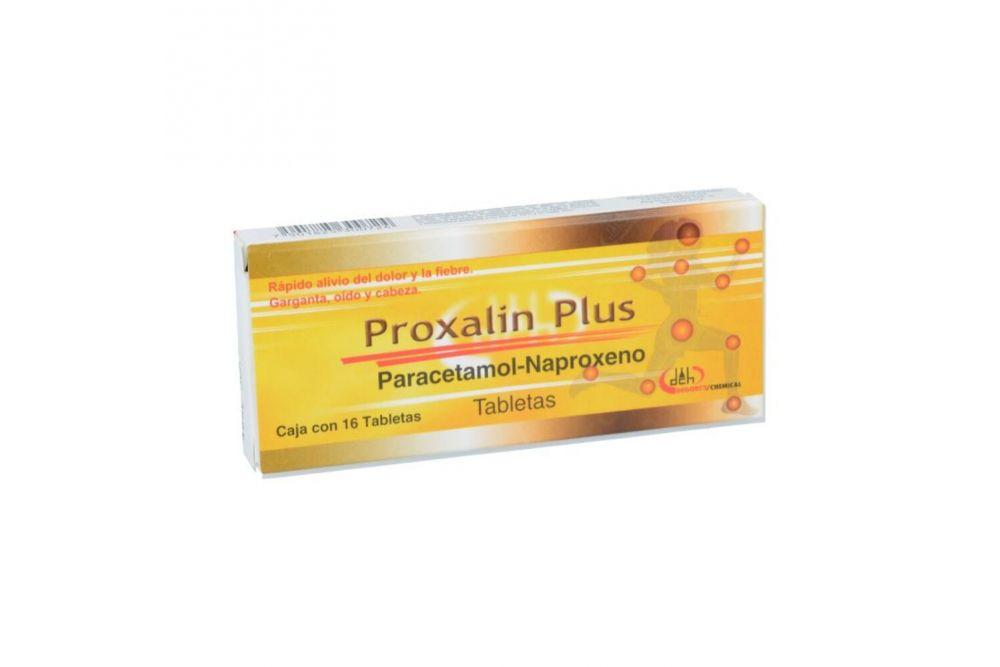Proxalin Plus 250 mg / 300 mg Caja Con 16 Tabletas