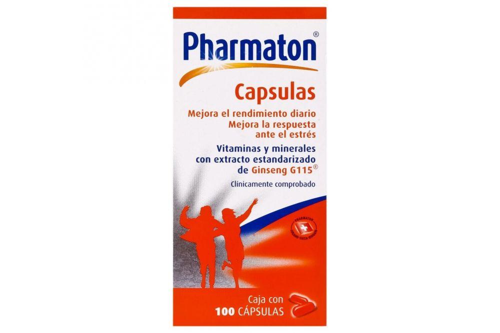 Pharmaton Caja Con  Frasco Con 100 Cápsulas