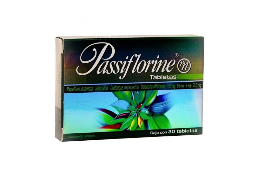 Passiflorine 25 mg / 50 mg / 5mg Caja Con 30 Tabletas