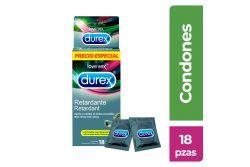 Condones Durex Retardante Masculino Caja Con 18 Piezas