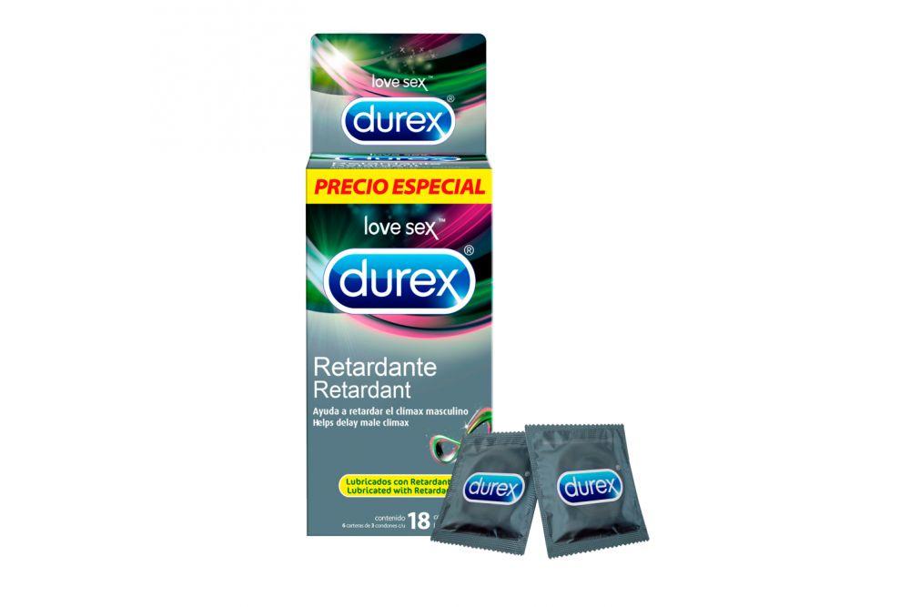 Condones Durex Retardante Caja Con 18 Piezas