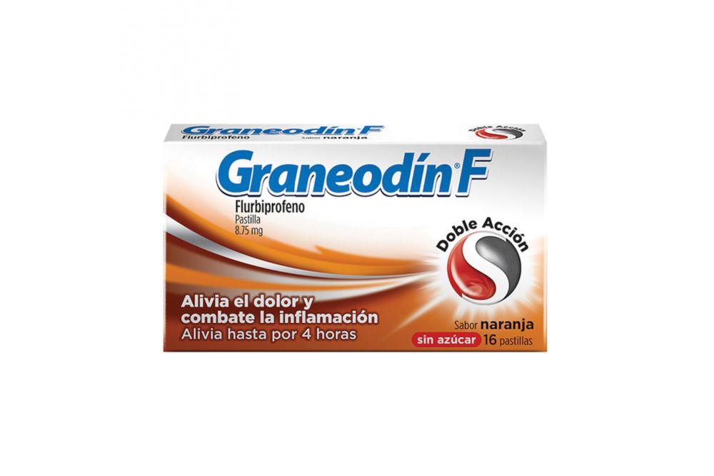 Graneodín F  8.75 mg Caja Con 16 Pastillas Sabor Naranja